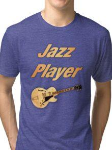 Guitar Jazz Player Tri-blend T-Shirt