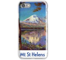 Mount Saint Helens Vintage Travel Poster Restored iPhone Case/Skin