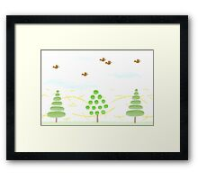Trees of various forms Framed Print