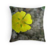Rock Garden Yellow Throw Pillow