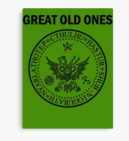 Seal of the Great Old Ones - Black Canvas Print