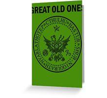 Seal of the Great Old Ones - Black Greeting Card