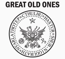 Seal of the Great Old Ones - Black Kids Tee