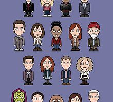 New Who Doctors and Companions (poster/card/notebook) by redscharlach
