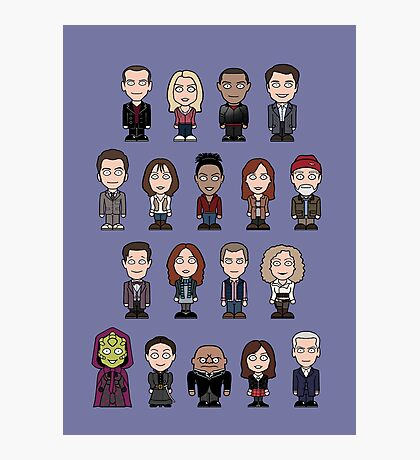 New Who Doctors and Companions (poster/card/notebook) Photographic Print