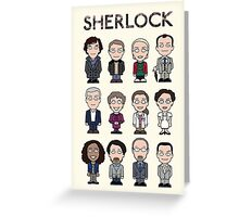 Sherlock and Friends (poster/card/notebook) Greeting Card
