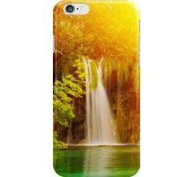 Water Bubbles Blue Waterfall Sunrise iPhone Case/Skin