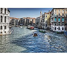 North from the Rialto Bridge Photographic Print