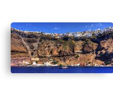 Firá Harbour and Town Canvas Print