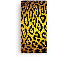 Yellow Leopard Animal Samsung Case Canvas Print