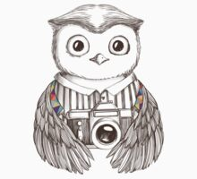 Drawing owl with camera Kids Clothes