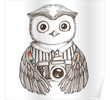 Drawing owl with camera Poster