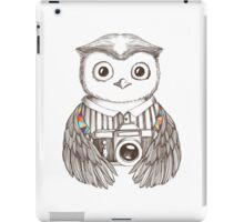 Drawing owl with camera iPad Case/Skin