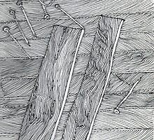 Wood Flooring... a doodle! by James Lewis Hamilton