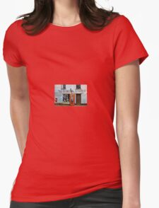 Old Stores and Red Telephone Box Womens Fitted T-Shirt