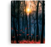 Red feather dance Canvas Print