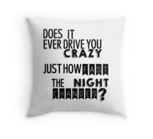 Night Changes Throw Pillow