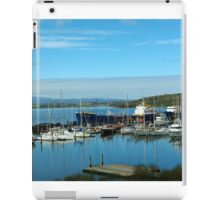 Boats in the harbour iPad Case/Skin