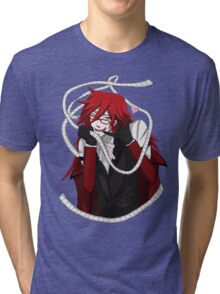 Love To Death - Grell Sutcliff - Black Butler Fan Art Tri-blend T-Shirt