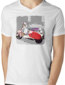 red scooter at Taipei night market Mens V-Neck T-Shirt
