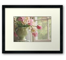 In the window Framed Print