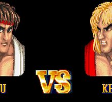 RYU VS KEN - FIGHT! by PIXLTEES