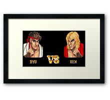 RYU VS KEN - FIGHT! Framed Print
