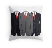 Buisness Suits  Throw Pillow