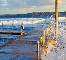 Narrabeen pool just before sunset by Doug Cliff