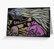 Angel Resting Greeting Card