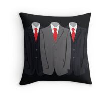 Mens Suits (black) Throw Pillow