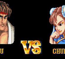RYU VS CHUN LI - FIGHT! by PIXLTEES