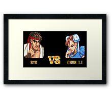 RYU VS CHUN LI - FIGHT! Framed Print