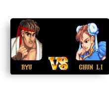 RYU VS CHUN LI - FIGHT! Canvas Print