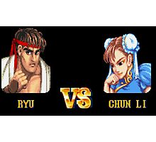 RYU VS CHUN LI - FIGHT! Photographic Print