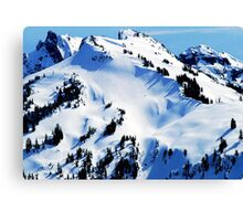 Back Country Downhill Skiers Canvas Print