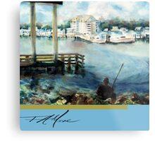 Gone Fishing. FA Moore Signature design, in Fisher Blue Metal Print