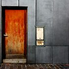 Orange Door by Clo Sed