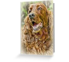 Golden Retriever portrait Greeting Card