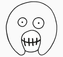 The Mighty Boosh – Hollow Black Outline Mask Kids Clothes