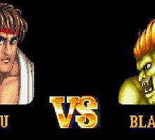 RYU VS BLANKA - FIGHT! by PIXLTEES