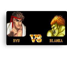 RYU VS BLANKA - FIGHT! Canvas Print