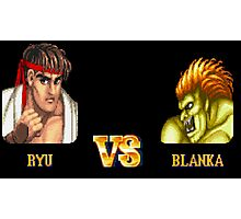 RYU VS BLANKA - FIGHT! Photographic Print