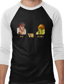 RYU VS BLANKA - FIGHT! Men's Baseball ¾ T-Shirt