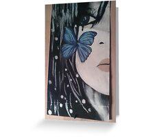 Winter night - Butterfly spleen Greeting Card