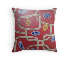 Mars - brilliant & bold colours, contemporary abstract Throw Pillow