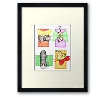 Fairy Cat Collage Framed Print