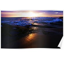 SUNSET AT 13TH BEACH Poster