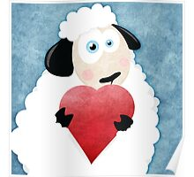 I Love Ewe (blue) Poster
