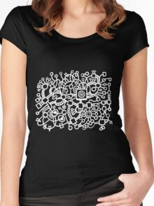 Abstract Structure - Black Women's Fitted Scoop T-Shirt